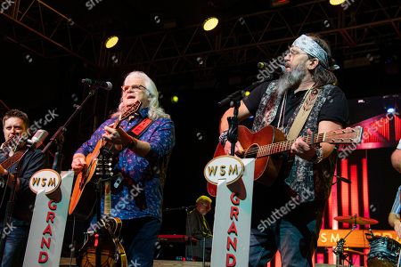 Ricky Skaggs, Steve Earle. Ricky Skaggs, left, and Steve Earle perform during the Grand Ole Opry performance at the Bonnaroo Music and Arts Festival, in Manchester, Tenn