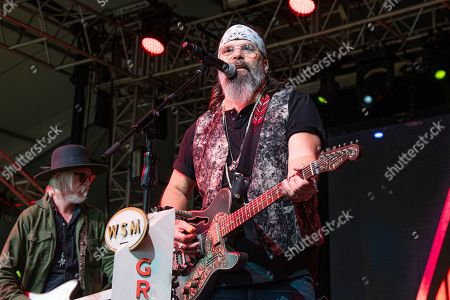 Steve Earle performs during the Grand Ole Opry performance at the Bonnaroo Music and Arts Festival, in Manchester, Tenn