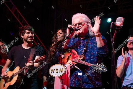 Morgan Evans, Wendy Moten, Ricky Skaggs. Morgan Evans, from left, Wendy Moten, and Ricky Skaggs performs during the Grand Ole Opry performance at the Bonnaroo Music and Arts Festival, in Manchester, Tenn