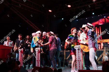 Woody Paul, Steve Earle, Joey Miskulin, Charlie Worsham, Molly Tuttle, Ashley Monroe, Ranger Doug, Ketch Secor. Woody Paul, from left, Steve Earle, Joey Miskulin, Charlie Worsham, Molly Tuttle, Ashley Monroe, Ranger Doug, and Ketch Secor performs during the Grand Ole Opry performance at the Bonnaroo Music and Arts Festival, in Manchester, Tenn