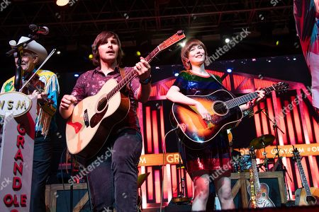 Charlie Worsham, Molly Tuttle. Charlie Worsham, left, and Molly Tuttle perform during the Grand Ole Opry performance at the Bonnaroo Music and Arts Festival, in Manchester, Tenn