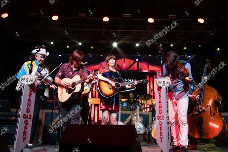 Woody Paul, Charlie Worsham, Molly Tuttle, Ketch Secor. Woody Paul, from left, Charlie Worsham, Molly Tuttle, and Ketch Secor perform during the Grand Ole Opry performance at the Bonnaroo Music and Arts Festival, in Manchester, Tenn