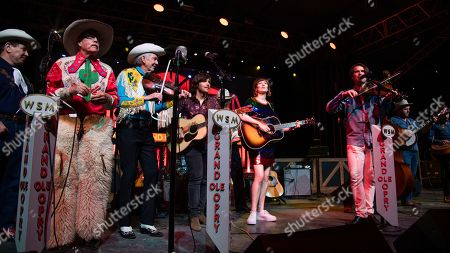 Fred LaBour, Woody Paul, Charlie Worsham, Molly Tuttle, Ketch Secor. Fred LaBour, from left, Woody Paul, Charlie Worsham, Molly Tuttle, and Ketch Secor perform during the Grand Ole Opry performance at the Bonnaroo Music and Arts Festival, in Manchester, Tenn