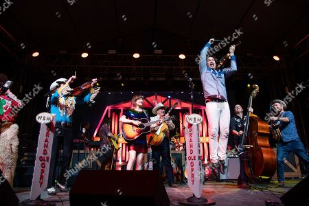 Woody Paul, Molly Tuttle, Ranger Doug, Ketch Secor. Woody Paul, from left, Molly Tuttle, Ranger Doug, and Ketch Secor perform during the Grand Ole Opry performance at the Bonnaroo Music and Arts Festival, in Manchester, Tenn