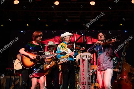 Woody Paul, Molly Tuttle, Ketch Secor. Woody Paul, from left, Molly Tuttle, and Ketch Secor perform during the Grand Ole Opry performance at the Bonnaroo Music and Arts Festival, in Manchester, Tenn
