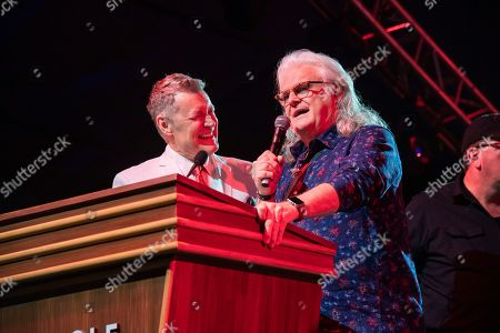 Bill Cody, Ricky Skaggs. Bill Cody, left, and Ricky Skaggs seen during the Grand Ole Opry performance at the Bonnaroo Music and Arts Festival, in Manchester, Tenn