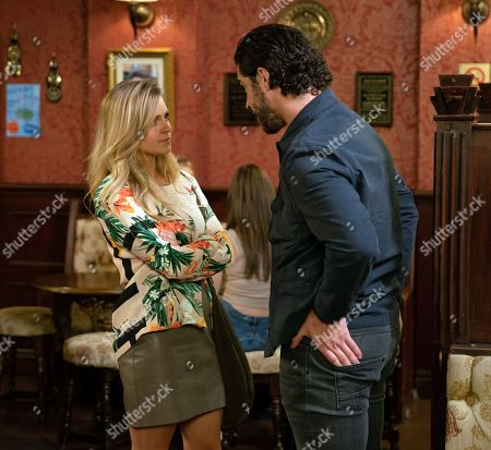 Ep 9805 Wednesday 26th June 2019 - 1st Ep  Adam Barlow, as played by Sam Robertson, quizzes Sarah Platt, as played by Tina O'Brien, about how she really got the bruise on her arm the other week. Will Sarah admit what Gary did?