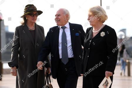 Stock Image of Jill Hickson Wran (L) and former Australian prime minister John Howard (C) along with his wife Janette (R leave the State Memorial Service for former prime minister Bob Hawke at the Sydney Opera House in Sydney in Sydney, Australia, 14 June 2019. Thousands gathered to pay their last respect to late former Australian prime minister Bob Hawke, who died on 16 May 2019 at the age of 89, at the Sydney Opera.