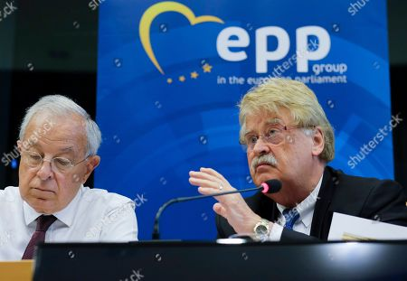 Editorial picture of European People's Party press conference on lead candidate, Brussels, Belgium - 14 Jun 2019