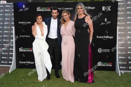 Eva Longoria with Lola Ponce and Aaron Diaz and Tiziana Rocca