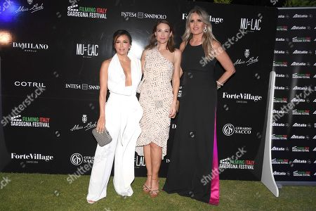 Eva Longoria with Tiziana Rocca and Claire Forlani