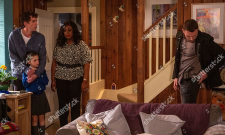 Ep 8515 Tuesday 25th June 2019 - 1st Ep A vengeful Max, as played by Jordan Reece, is at Tall Trees waiting ominously upstairs. When April Windsor, as played by Amelia Flanagan, Jessie Dingle, as played by Sandra Marvin, and Marlon Dingle, as played by Mark Charnock, return home early from the village football match, Max appears. He dangerously flashes a gun and orders a terrified Jessie to call Billy, which goes to voicemail.