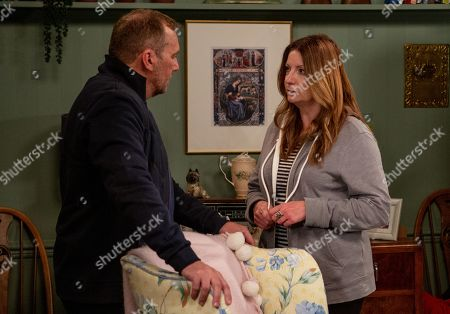 Ep 8518 Thursday 27th June 2019 - 1st Ep Dawn's suspicions are confirmed and she heads to Woodbine - accusing Harriet Finch, as played by Katherine Dow Blyton, of sleeping with Will, as played by Dean Andrews. How will she react when he steps into the room?