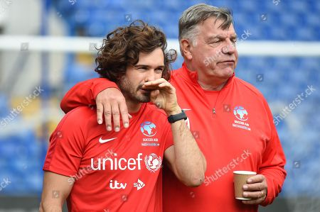 Joe Wicks and Sam Allardyce in action from Soccer Aid for Unicef's training week, in preparation for the match on Sunday