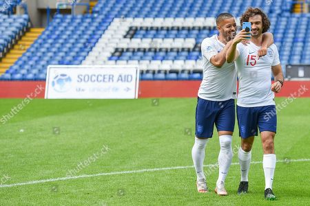 Jeremy Lynch and Joe Wicks take a selfie before the action from Soccer Aid for Unicef's training week, in preparation for the match on Sunday