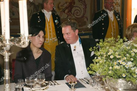 Chris O'Neill at a State Banquet in honour for South Korea's presidential couple at the Royal Palace in Stockholm