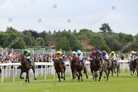 SHAWAAMEKH (13) ridden by David Nolan and trained by Declan Carroll winning The Irish Thoroughbred Marketing Handicap Stakes over 7f (£15,000)  during the Midsummer Raceday held at York Racecourse, York