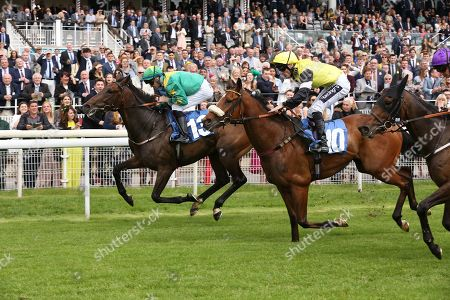 Stock Photo of SHAWAAMEKH (13) ridden by David Nolan and trained by Declan Carroll winning The Irish Thoroughbred Marketing Handicap Stakes over 7f (£15,000)  during the Midsummer Raceday held at York Racecourse, York
