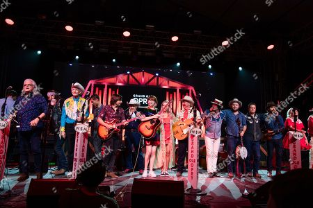 Ricky Skaggs, Woody Paul, Charlie Worsham, Joey Miskulin, Molly Tuttle, Ashley Monroe, Ranger Doug, Ketch Secor, Chance McCoy, Cory Younts, Morgan Jahnig. Ricky Skaggs, from left, Woody Paul, Charlie Worsham, Joey Miskulin, Molly Tuttle, Ashley Monroe, Ranger Doug, Ketch Secor, Chance McCoy, Cory Younts, and Morgan Jahnig perform during the Grand Ole Opry show at the Bonnaroo Music and Arts Festival, in Manchester, Tenn