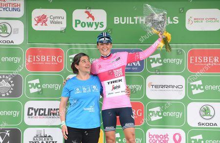 Trek Segafredo's Lizzie Deignan takes the Breast Cancer Care pink jersey.