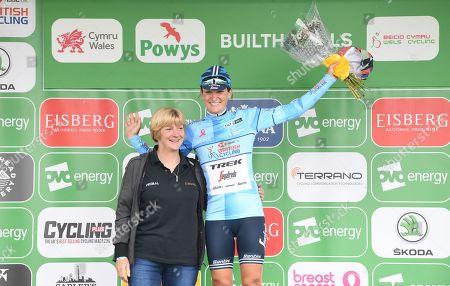 Trek Segafredo's Lizzie Deignan retains the HSBC UK British Cycling best British rider blue jersey.