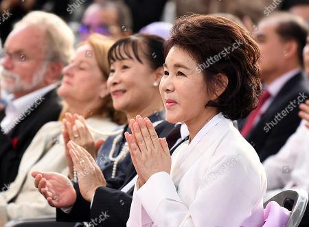 KANG Nan-hee, wife of Seoul Mayor Park Won-soon,