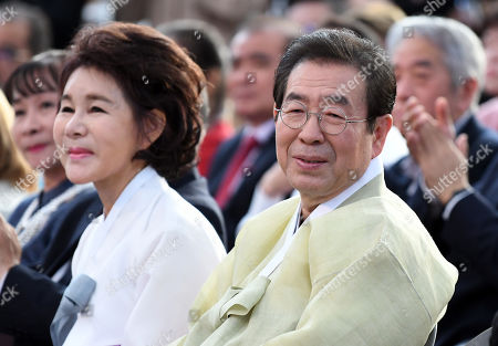 Park Won-Soon, Seoul City Mayor and his wife Kang Nan-hee