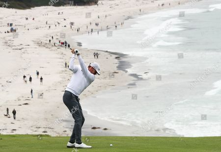 Jimmy Walker with Pebble Beach Backdrop on 9th