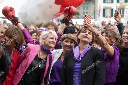 Editorial image of Nationwide women's strike day in Zurich, Bern, Switzerland - 14 Jun 2019