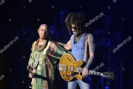 Stock Photo of Lenny Kravitz and Gail Ann Dorsey