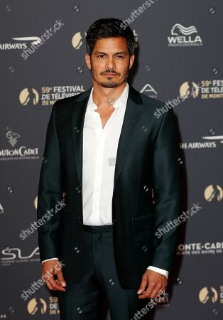 Nicholas Gonzalez poses on the red carpet while arriving for the opening ceremony of the 59th Monte Carlo Television Festival in Monaco, 14 June 2019. The TV festival runs from 14 to 18 June.