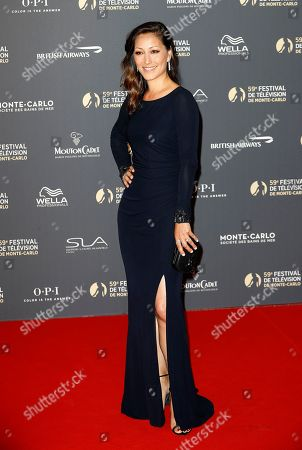 Christina Chang poses on the red carpet while arriving for the opening ceremony of the 59th Monte Carlo Television Festival in Monaco, 14 June 2019. The TV festival runs from 14 to 18 June.