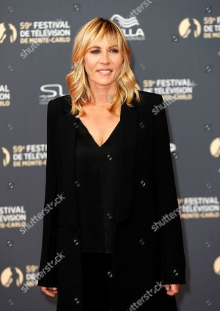 Mathilde Seigner poses on the red carpet while arriving for the opening ceremony of the 59th Monte Carlo Television Festival in Monaco, 14 June 2019. The TV festival runs from 14 to 18 June.
