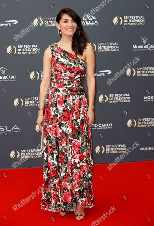Caterina Murino poses on the red carpet while arriving for the opening ceremony of the 59th Monte Carlo Television Festival in Monaco, 14 June 2019. The TV festival runs from 14 to 18 June.
