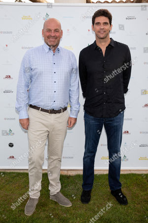 Thomas Bjorn and Mark Philippoussis