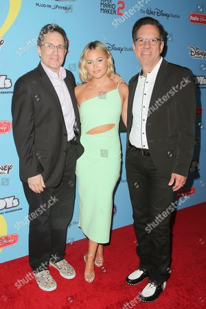 Gary Marsh, Olivia Holt and Phil Guerini