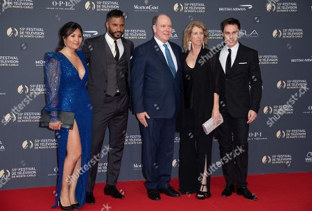 Stock Picture of Marie Chevalier, Ricky Whittle, Prince Albert II of Monaco, Rory Kennedy and Louis Ducruet