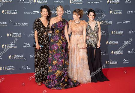 Pauline Bression, Rebecca Hampton, Lea Francois and Fabienne Carat