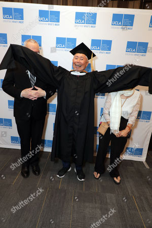 Brad Altman, George Takei and Nancy Reiko Takei