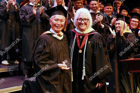 George Takei and Teri Schwartz - Dean of the UCLA School of Theater, Film and Television