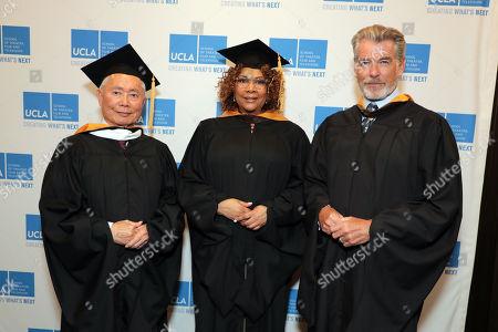 George Takei, Julie Dash and Pierce Brosnan