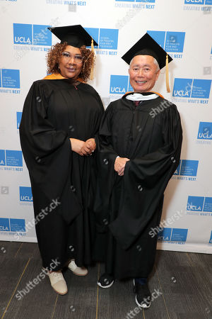 Julie Dash and George Takei