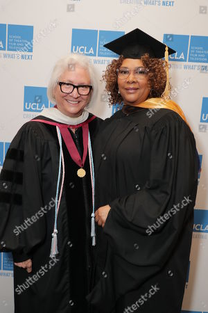 Stock Picture of Teri Schwartz - Dean of the UCLA School of Theater, Film and Television and Julie Dash