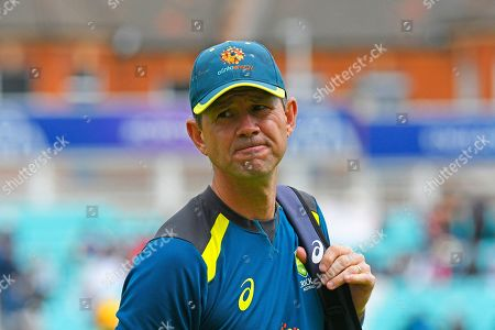 Australian coach Ricky Ponting ahead of the ICC Cricket World Cup 2019 match between Sri Lanka and Australia at the Oval, London