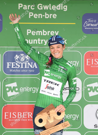 Stock Picture of The Velodrome Carmarthen to Pembrey Country Park - Winner Trek Segafredo LIZZIE DEIGNAN wins the OVO Energy  Women's Tour