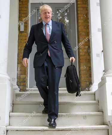 Boris Johnson out and about, London
