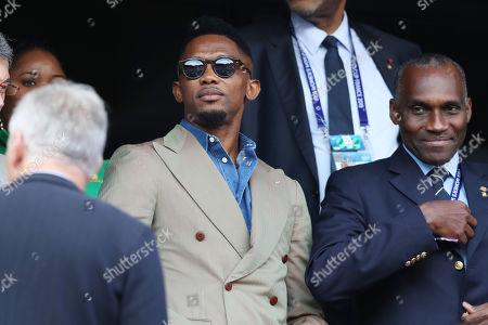 Samuel Eto'o in the crowd