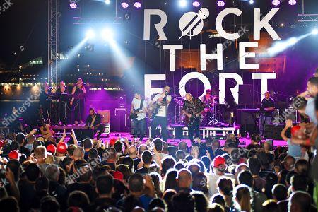 Editorial picture of Marc Martel in concert, Vittoriosa Waterfront, Rock the Fort, Birgu, Malta - 14 Jun 2019