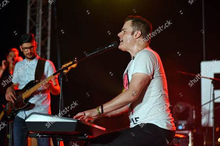 Stock Image of Marc Martel Live Queen show at Vittoriosa Waterfront in Rock the Fort Concert