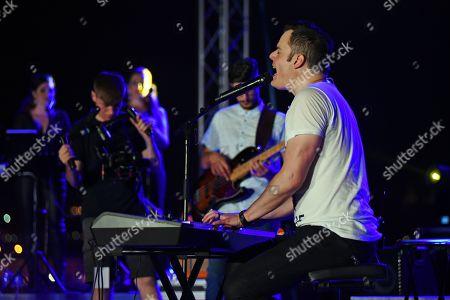 Editorial photo of Marc Martel in concert, Vittoriosa Waterfront, Rock the Fort, Birgu, Malta - 14 Jun 2019